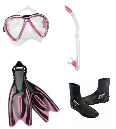 Cressi Lince and Frog Plus Fin Pack