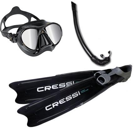 Cressi Nano HD and Modular Fin Pack