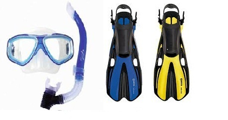 Ocean Pro Eclipse Mask and Mares Volo One Fin Set