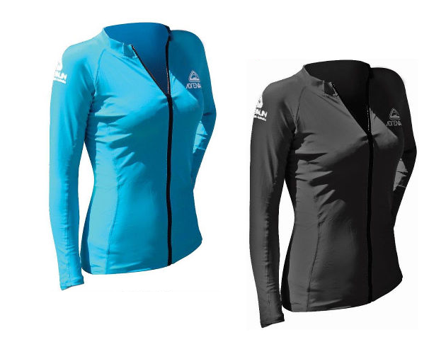 Adrenalin Ladies Zip Rash Top Long Sleeve