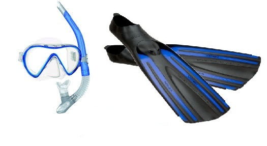 Mares Cobia Mask and Oceanic Viper Fin Set