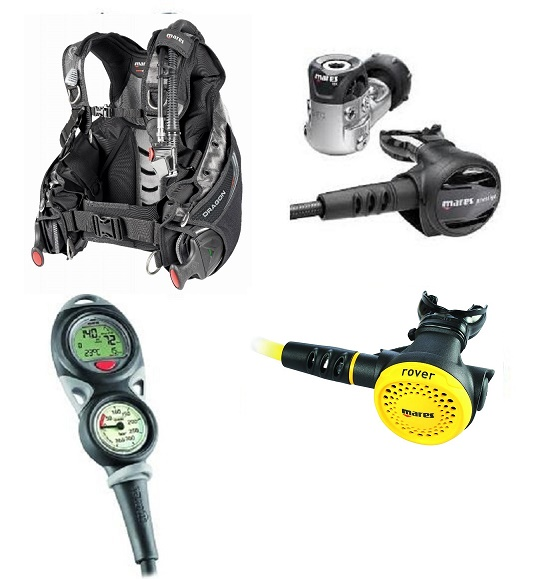 Mares Dragon SLS BCD and Prestige 15X Package