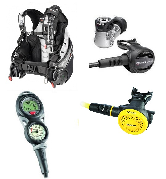 Mares Kaila SLS BCD and Prestige 15X Package