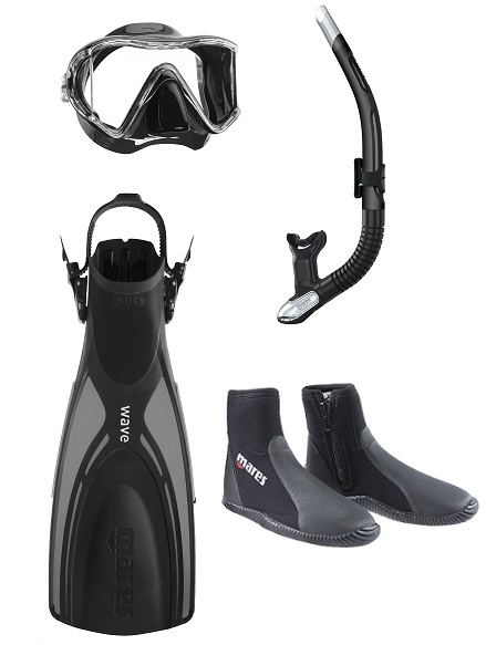 Mares i3 and Wave Fin Pack