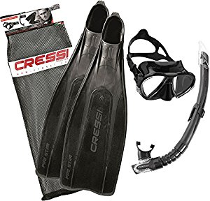 Cressi Pro Star Mask, Snorkel and Fin Set