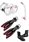 Cressi Big Eyes Evo and Frog Plus Fin Pack