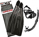 Cressi Pro Star Mask/Snorkel and Fin Bag