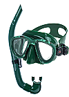 Ocean Hunter Chameleon Mask and Snorkel Set Green