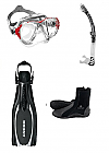 Cressi Eyes Evo Crystal and Reaction Fin Pack